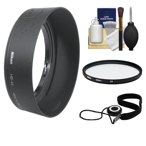 - Nikon HB-45 Bayonet Lens Hood for Nikon 18-55mm VR DX AF-S Zoom-Nikkor + Filter + Accessory Kit (with D40, D60, D90, D3000, D3100, D5000 & D7000 Digital SLR Camera)