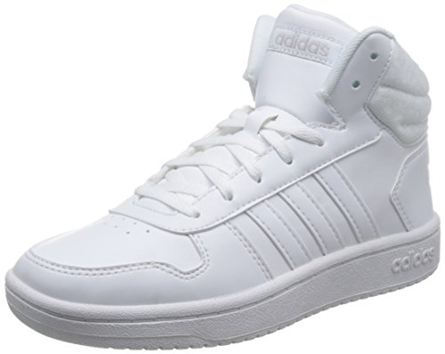 ftwbla 0 000 Hoops Adidas griuno De Blanc ftwbla Chaussures Femme W Mid 2 Fitness aqxwxH4