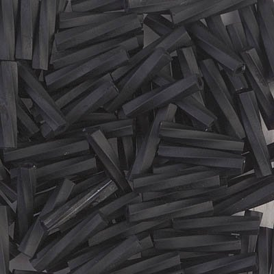 - Miyuki Bugle Beads Twisted 2.7mm x 12mm Matte Black 12 grams TW2712-401F