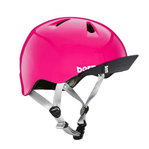 BERN - Kid's Tigre Helmet, Gloss Pink w/Flip Visor, XXS
