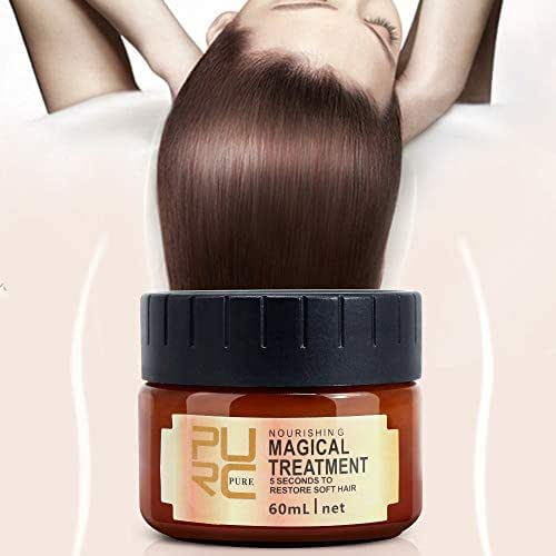 Magical Treatment Hair Mask, Professional Hair Conditioner, 5 Seconds Repair Damage, Deep Hydrating, Suitable for Dry Chemically Treated Hair- 60ml