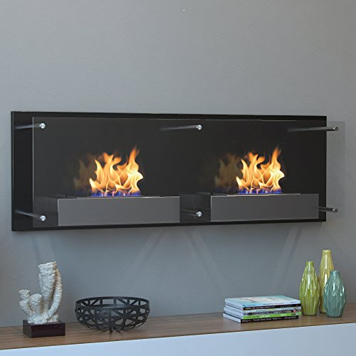 Moda Flame Faro Wall Mounted Bio Ethanol Ventless