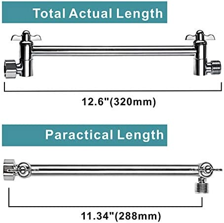 Details about  /Srmsvyd Shower Arm 11-Inches Adjustable Shower Head Extension Arm Easy To Adjust