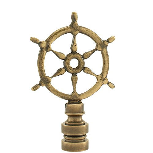 Antique Ships Wheel Finial Boat Steering Wheel Lamp Shade Topper Lampshade Nut Screw