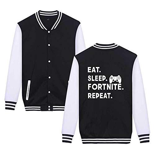 Sweatshirts Da Aivosen Giacca Moda Black5 Semplice Baseball Casual Leggera Comode Fortnite Unisex Unicorno Stampate UXRnxSX7q