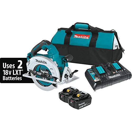 "Makita XSH06PT 18V X2 LXT Lithium-Ion (36V) Brushless Cordless 7-1/4"" Circular Saw Kit (5.0Ah)"