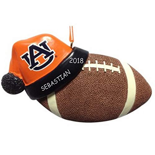 DIBSIES Personalization Station Personalized Licensed Collegiate Football Sports Christmas Ornament ()