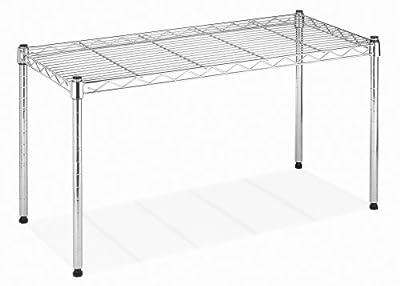 Whitmor Supreme Wide Stacking Shelf - Heavy Duty - Adjustable - Chrome