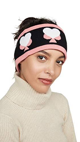 Kate Spade New York Women's Spade Heart Headband, Black, One Size (Spade Kate Headband)