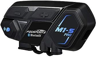 FODSPORTS バイク インカム 最大8人同時通話 強い互換性 連続使用20時間 日本語案内 Bluetooth4.1 いんかむ マルチデバイス接続 ヘッドセット ユニバーサル機能 インターコム 防水 HI-FI音質 バイク用インカム...