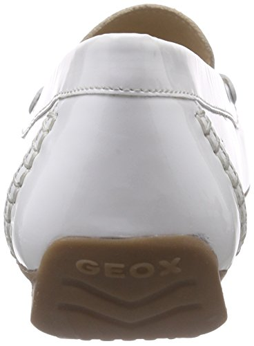 Geox D Grin B, Women's Mocassins White (White/Lt Goldc1327)