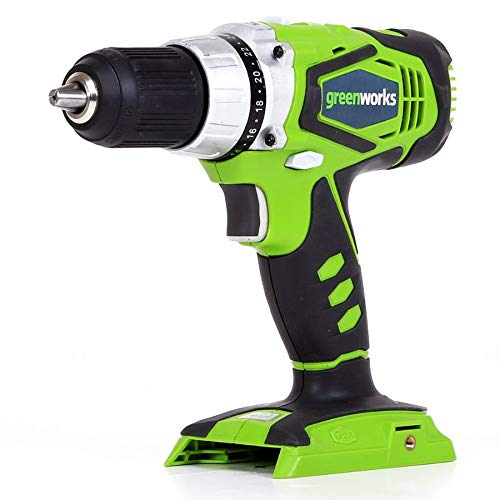 Greenworks 24V Cordless Speed Compact Drill, Battery Not Inc