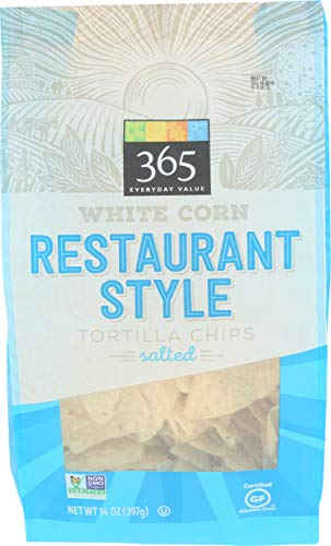 365 Everyday Value, White Corn Tortilla Chips, Restaurant Style, Salted, 14 oz