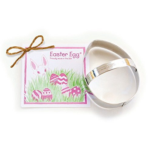 Easter Egg Cookie and Fondant Cutter - Ann Clark - 4 Inches - US Tin Plated Steel