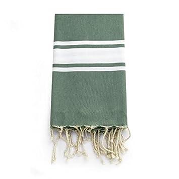 Alfombra de cocina verde menta, algodón toalla de baño toalla de playa de la Polinesia francesa lino: Amazon.es: Hogar
