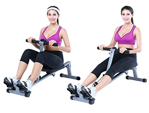 Rowing Machine X-Factor Rower Paddling Ab Crunching 8 Adjustable Resistance Exercise with Monitor. by X-Factor