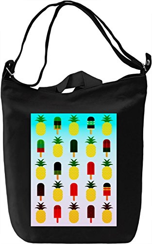 Pineapple And Ice Cream Borsa Giornaliera Canvas Canvas Day Bag| 100% Premium Cotton Canvas| DTG Printing|