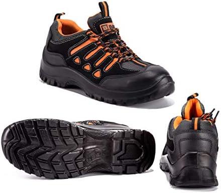 Black Hammer Chaussure de Sécurité SB SRC Baskets Embout Acier Respirant Chaussures de Chaussures de Travail et randonnée 6682