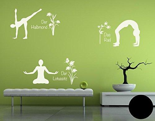 Klebefieber Wandtattoo Yoga Figuren Set 4 B x H  110cm x 170cm Farbe  Creme B071958GGL Wandtattoos & Wandbilder