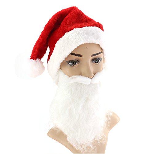 Santa Hat with Beard (Cheap Santa Hats)