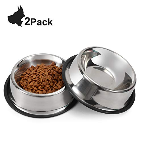 Perfect size food dish for my 65lb Dane mix