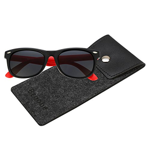 Brooben Rubber Flexible Kids Polarized Sunglasses for Baby and Children Age 3-10 - Unbreakable Baby Sunglasses