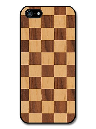 Wooden Effect Chequerboard Pattern in Different Stains case for iPhone 5 5S