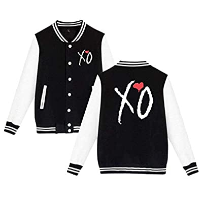 TREEGREEN Inspired Gifts XO The Weeknd Heart Man Girl's Classic Baseball Uniforms Brushed Keep Warm Jackets