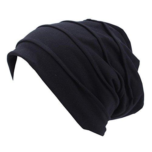 Coohole 2017 New Fashion Unisex Hip Hop Winter Crochet Hat Ski Knit Warm Cap Hat (Black)