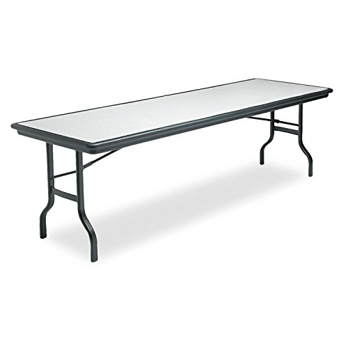 Iceberg 65137 IndestrucTables Resin Rectangular Folding Table, 96w x 30d x 29h, Granite/Black by Iceberg