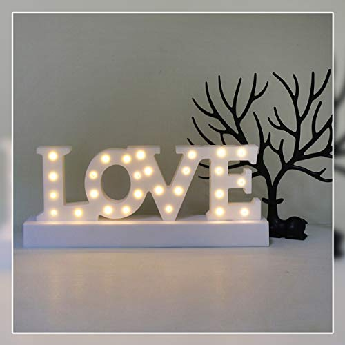 GUOCHENG Love Letter Decor Light LED Alphabet Marquee Light Sign Home Decorative Mood Table Lamps for Bedroom Children Kids Room Nursery£¬Everyday Indoor Motif -