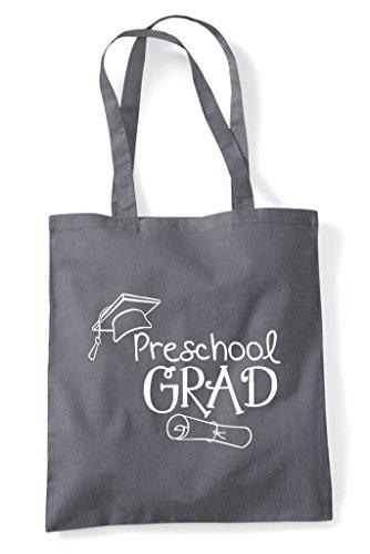 Bag Preschool Dark Cute Grey School Grad Tote Statement Shopper UvUrXTq