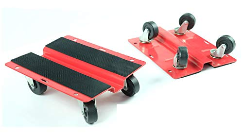 KASTFORCE KF2018 Utility Dolly Kit of Pair 8 inch x 10 inch Steel Dollies,Snowmobile Dolly, Panel Dolly, Material Mover