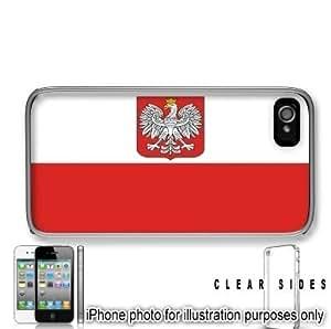 Poland Polish Polska Flag Apple iPhone 4 4S Case Cover Skin Clear on Sides by icecream design