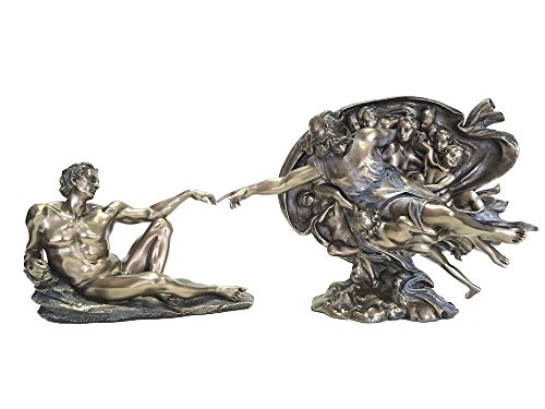 MichelAngelo's The Creation of Man Statue Genesis -