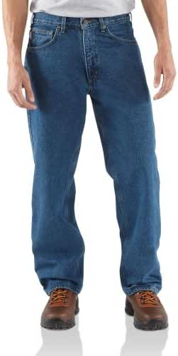 Carhartt Straight Leg Flannel-lined Relaxed-fit Jeans Darkstone, DARKSTONE, W38 L36