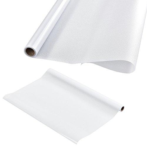 [casa.pro] Sichtschutzfolie für Fenster - Statisch haftend 50cm x 1m - Als Sichtschutz fürs Bad Milchglas-Folie für die Tür oder als Fenster-Folie blickdicht & selbstklebend