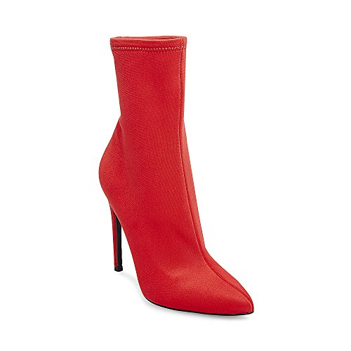 Steve Madden Women's Lovely Red Bootie Dress 7.5 (Lycra Bootie)