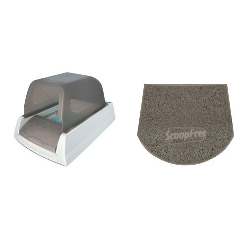 ScoopFree Self-Cleaning Litter Box and Anti-Tracking Mat Bundle by PetSafe