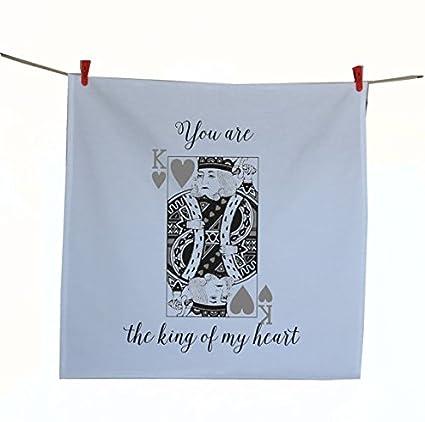 Amore Beaute hecho a mano toalla de té con usted es el rey de mi corazón