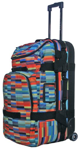 Electric Visual Big Block Roller Bag (Digital Stripe), Outdoor Stuffs