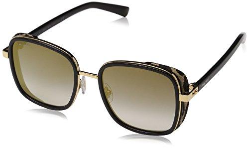Jimmy Choo Women's Elva/S Black Gold/Dark Grey Gradient One Size