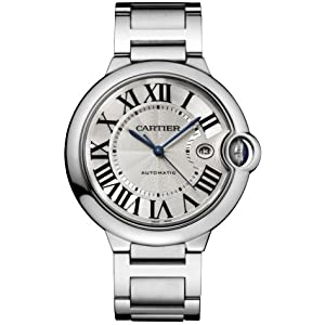 4165Il34DKL. SS300  - Cartier Men's W69012Z4 Ballon Bleu Stainless Steel Automatic Watch