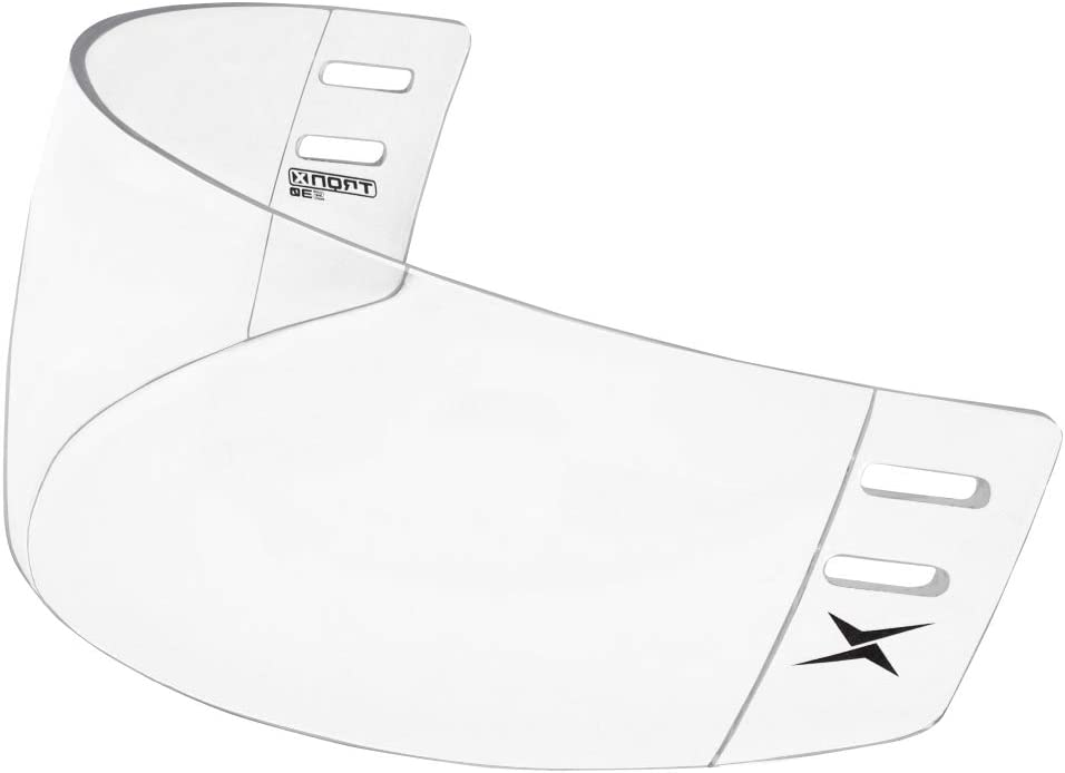 TronX S30 Straight-Cut Hockey Helmet Clear Visor (Anti-Scratch/Anti-Fog) CE Certified : Hockey Masks And Shields : Sports & Outdoors