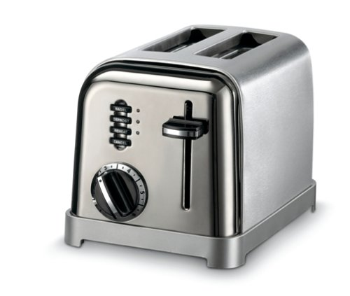 8. Cuisinart Metal Classic CPT-160 Two-Slice Toaster (Black/Chrome)
