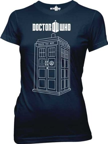 Doctor Who – Tardis T-Shirt (womens junior sizes)
