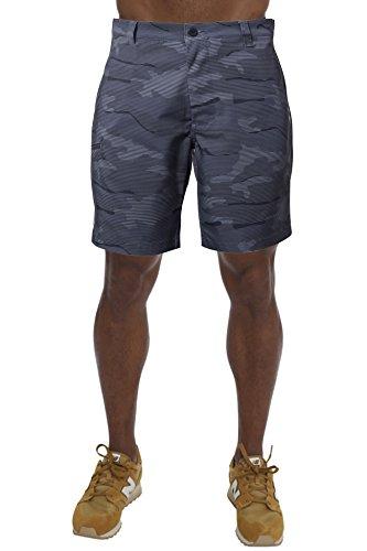 (Men's Cool Waterproof Hidden Expandable Waist Plain Front Classic Fit Golf Shorts,Camo)