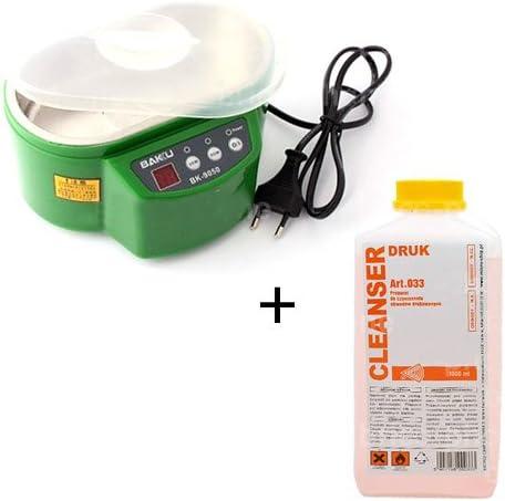 pour Nettoyer Cartes m/ères etc. 500ml disopropanol Kit Bac pour Bains /à ultrasons Composants