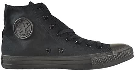 Converse Unisex Chuck Taylor All Star Hi Top Sneaker (5.5 B(M) US Women / 3.5 D(M) US Men, Black Monochrome) (Black Monochrome, 8.5 D(M) US)