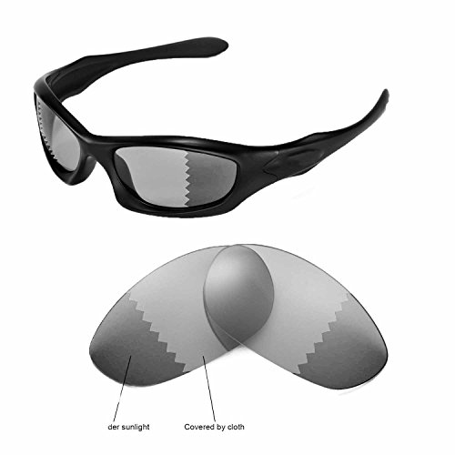 15854ffc72 Walleva Replacement Lenses for Oakley Monster Dog Sunglasses -Multiple  Options Available (Transition photochromic
